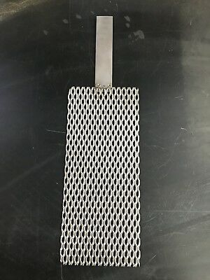Titanium Mesh For Anodizing Or Plating. Durable .078 Thick With 34 X 4 Tab