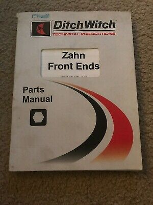 Ditch Witch Zahn Front End Skid Steer Loader Parts Manual Book Catalog 2008 Oem