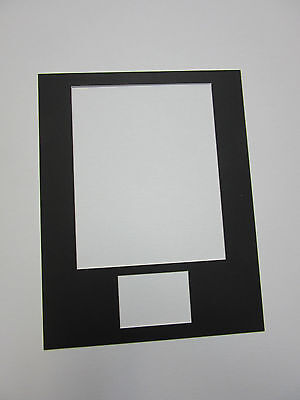 Photo Mat (Picture Frame Mat 11x14 for 8x10 photo and ACEO or Sports card  SET of 6)