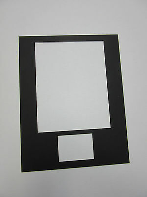Picture Frame Mat 11x14 for 8x10 photo and ACEO or Sports card  SET of 5