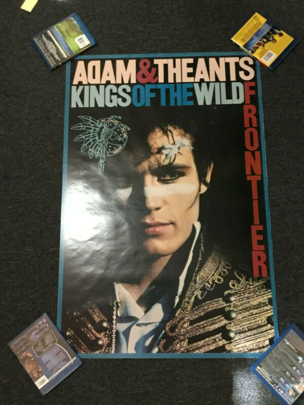 VINTAGE 1981 ADAM AND THE ANTS KINGS OF THE WILD FRONTIER PROMO POSTER CBS