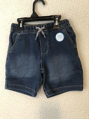 Carter's boys toddler jeans denim SHORTS stretch elastic waist 2T NEW $24 #E08