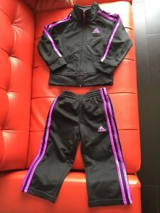 Adidas Kids Girl's Tricot Tracksuit Set size 2T