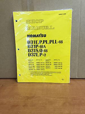 Komatsu D31e-18 D31p-18 D31s-18 D31q-18 D37e-2 D37p-2 Dozer Shop Service Manual