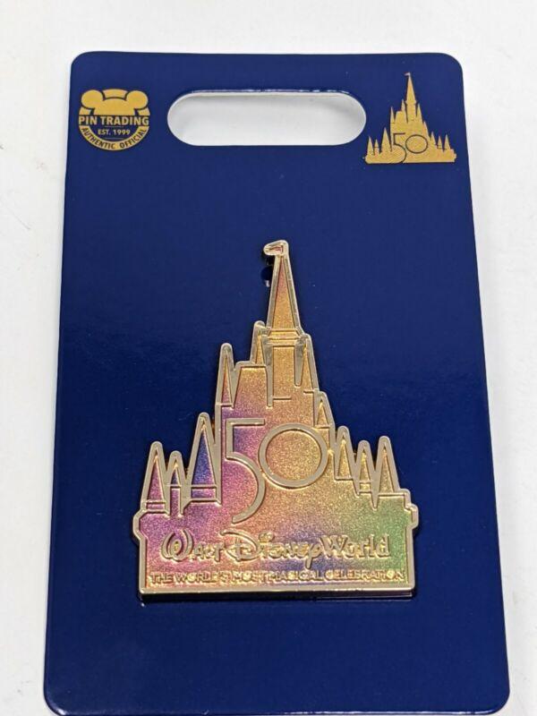 WDW 50th Anniversary Cinderella Castle Walt Disney World Pin
