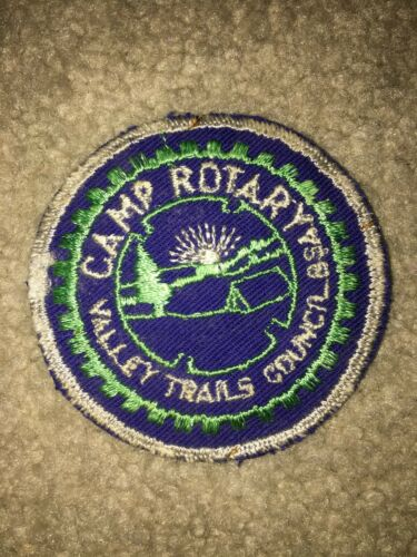 Boy Scout 1959 Valley Trails Camp Rotary Lake Huron Area Council Michigan Patch
