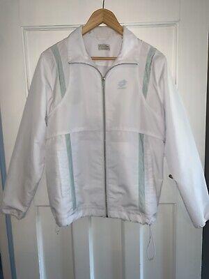 Vintage Lotto White Windbreaker Tracksuit Jacket Size L