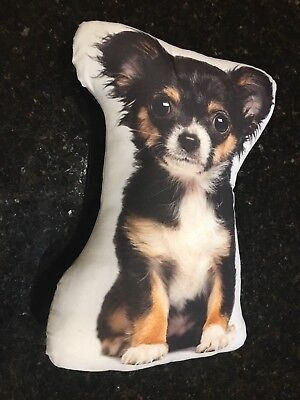 LONG-HAIRED CHIHUAHUA Dog Breed Throw Pillow, 15""