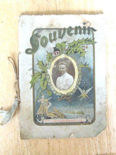 1906 CHRISTMAS CARD BOOKLET KANKAKEE ILL GERMAN BAPTIST SUNDAY SCHOOL PHOTO