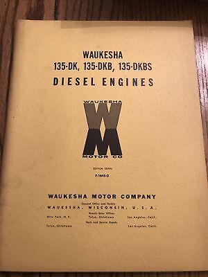 Waukesha 135dk 135dkb 135dkbs Diesel Engines Owner Operator User Guide Manual