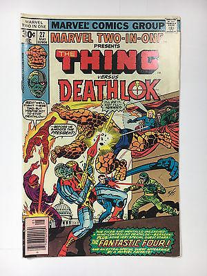 Marvel Two-In-One #27  F Marvel comic 1977 Deathlok