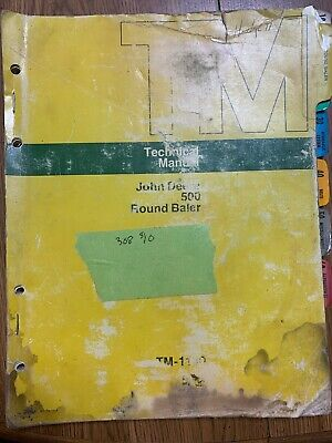 John Deere 500 Round Baler Tm-1140 Technical Manual