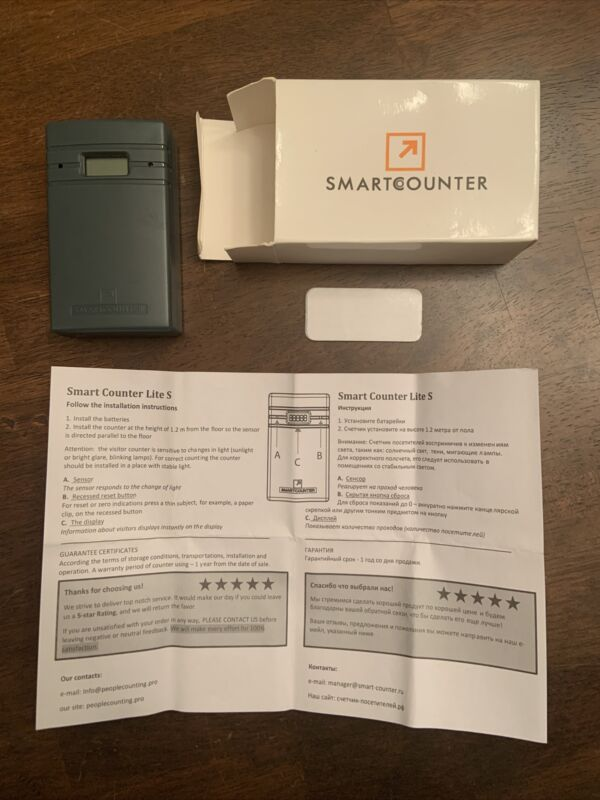 People Counter Wireless Non Directional Visitor Retail Customer Traffic MSRP $92