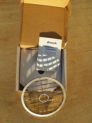 New Hobart 58 15.0mm Stainless Steel Food Processor Dicer Plate. For Fps