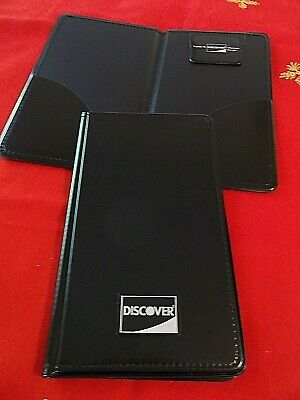 Brand New Discover Card Black Double Panel Check Presenter Free Shipping