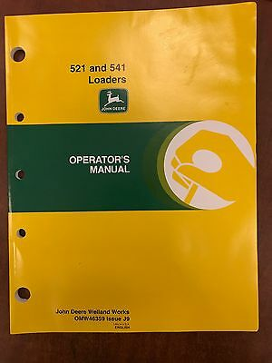 John Deere Operators Manual 521 & 541 Loaders #OMW46359 (USED)(BW)