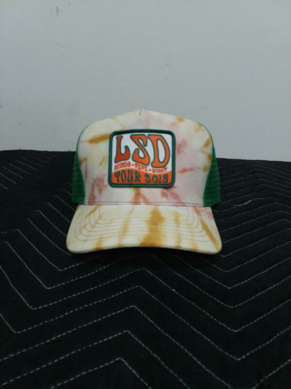 Lucinda Williams, Steve Earle, Dwight  Yoakam 2018 LSD Tour Hat Orange/Green