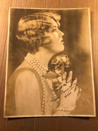 Peaches Browning Extremely Rare Very Early Autographed Oversize 11/14 Photo