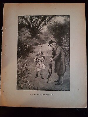 Antique Book Print - Going For The Doctor- 1894