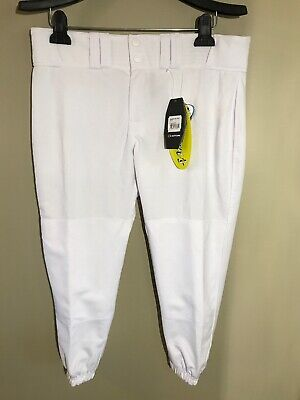 Easton Womens Baseball Pro Pants All White Size L A164147 Knickers -