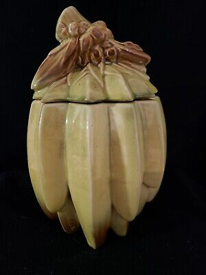 1940s McCoy Pottery Ceramic Bunch Of Bananas Cookie Jar ~10.5
