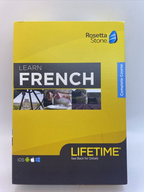 Rosetta Stone Learn French With Lifetime Access - New -