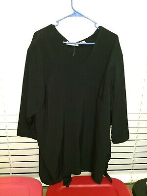 Belt That Ties (Maggies Barnes 3X 26/28 black v neck pullover with belt that)