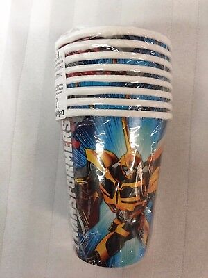 Transformers Theme Kids Party Cups, 9 oz, 8 Count (Transformers Party Theme)
