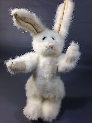 Boyds Bears BUNNY Rabbit White Plush Jointed Posable with Bendable Ears 8""