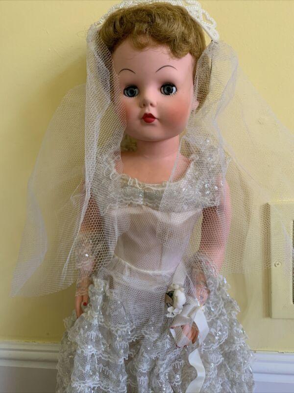 "Vintage 1950s Doll Betty the Beautiful Bride in Original Box Vinyl 30"" Deluxe +"