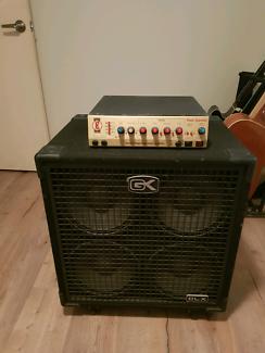 David Eden Time Traveler bass amp and Gallien Kruger 4x10 cab