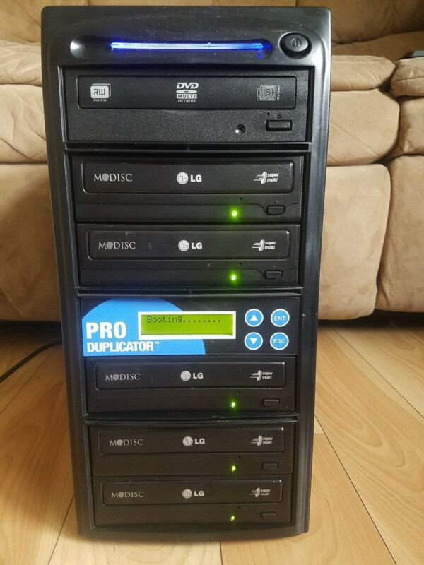Produplicator 1-5 Burner CD DVD Duplicator 24X Dual Layer Replication - TESTED