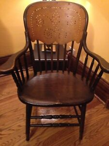 Antique Accent Wood  Chair