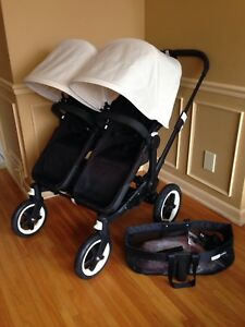 2yr old Bugaboo donkey mono & duo stroller & accessories