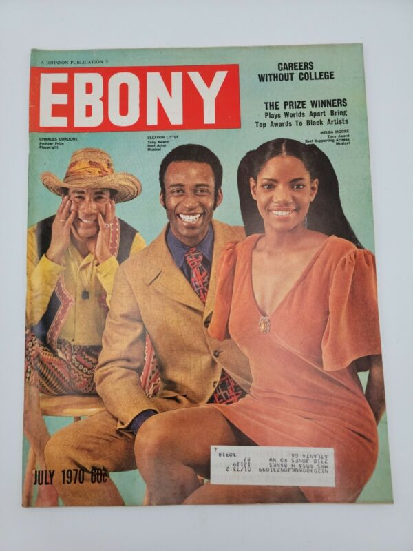 EBONY MAGAZINE JULY 1970 MELBA MOORE CLEAVON LITTLE VINTAGE COLLECTIBLE