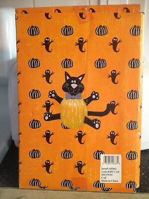 Halloween Wooden Black Cat Pumpkin jack O Lantern Carving Kit Tools Spikes New