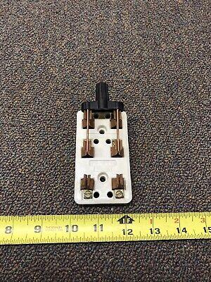 Vintage White Porcelain Leviton 25 Amp 125 Volt Double Pole Knife Switch