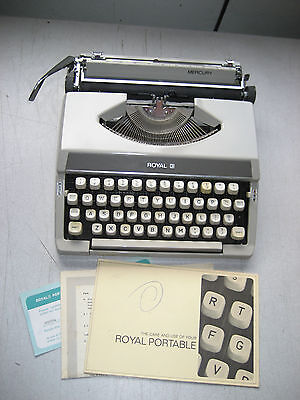 Refurbished Royal Mercury Portable Manual Typewriter 9 Carriage User Manual