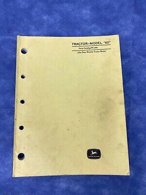 John Deere Parts Catalog For Model 60 Tractor Pc244