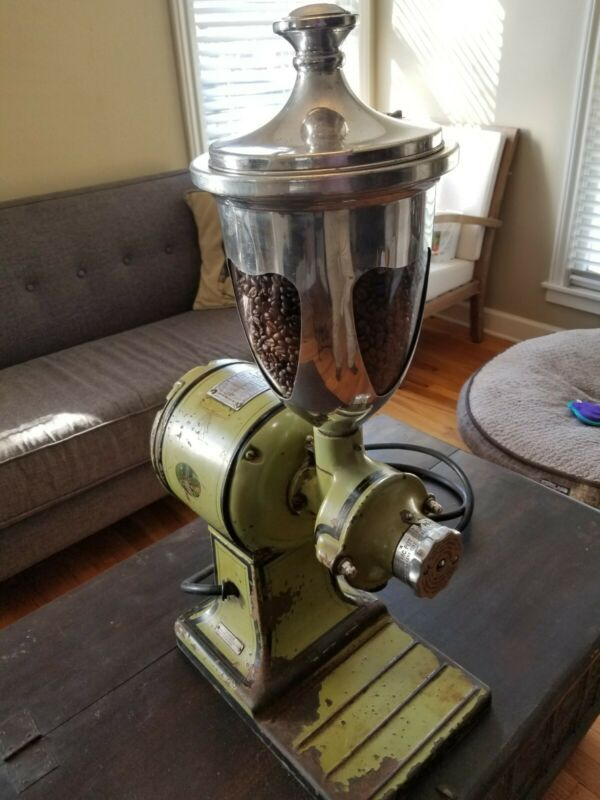 Antique Hobart 2040 Electric Coffee Burr Grinder - Works Great! Awesome Patina!