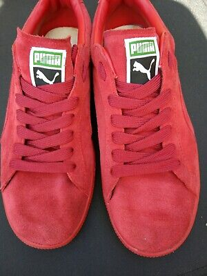Mens Puma Suede Red Trainers size 9