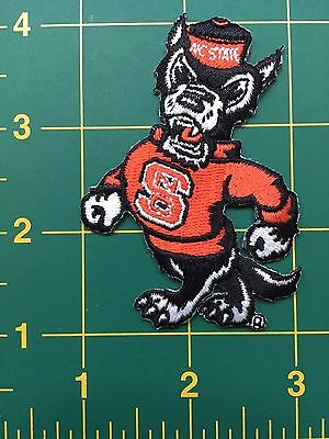 North Carolina NC State University Wolfpack Iron-On Patch NCSU heat seal back -