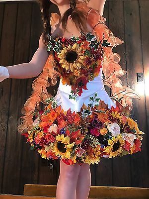 Handcrafted Adult Fairy Faerie Costume Outfit & Crown S/M Burning man