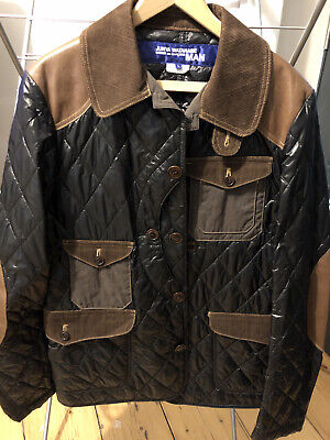 CDG Comme Des Garcons Junya Watanabe Man Quilted/Leather Patch Jacket L Used.