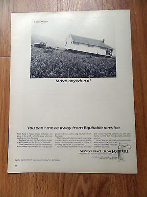 1964 Equitable Life Insurance Ad Living Insurance