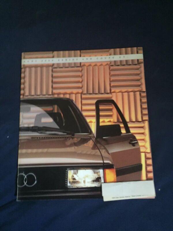 1990 Audi 4000 Quattro USA Market Color Brochure Catalog Prospekt