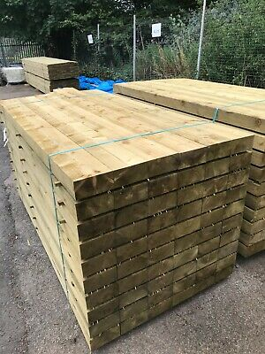 10 x Garden railway sleepers - 2.4m long - 195 x 95mm - Local delivery CV9