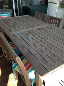 Wooden Outdoor Dining Setting Burleigh Heads Gold Coast South Preview