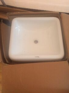 Rectangular vessel lavatory sink