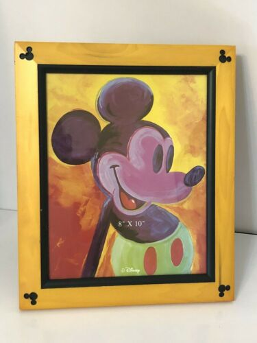 Disney Parks and Resorts Picture Frame 8x10 Wood Carved Mickey Mouse EarsNEW